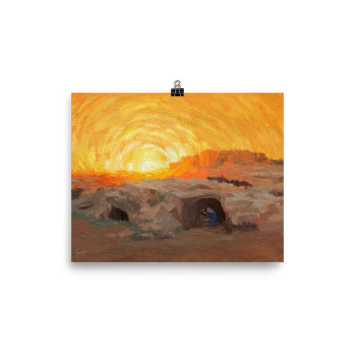 Rejoice! Art Prints: The Manger at Sunset