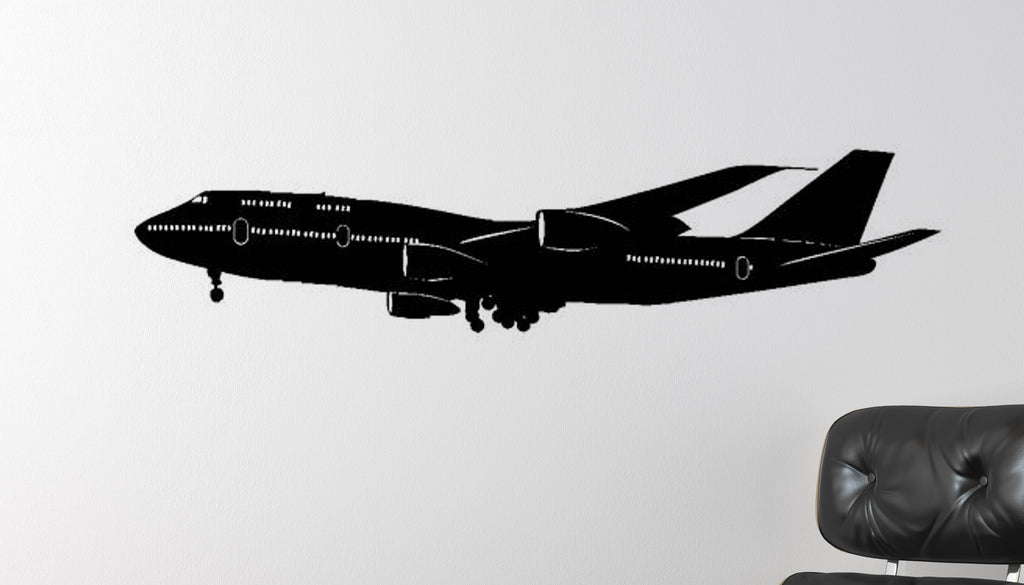 Boeing 747 Heavy Jet Vinyl Wall Decal Office College Dorm Kids Room  Airplane Sticker Aviation Decor