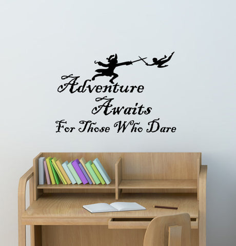 College Student Dorm Room Decal Peter Pan Quote Girls Boys Room Den Office Mural Nursery Child