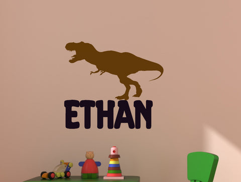 Boy Name Decal, Personalized Vinyl Decals, Dinosaur Wall, Childrens Wall  Decals, Baby