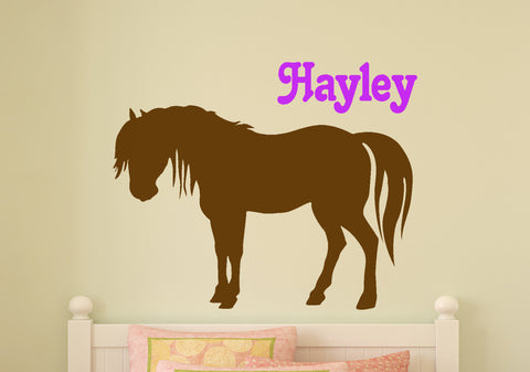 Horse Decal, Personalized Pony, Horse Personalized, Child's Room, Nursery Decor, Horse Decor,