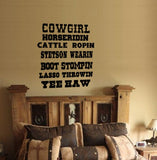 Cowgirl Decal, Cowgirl Quote Decal, Country Decal, Cowgirl Sticker, Quote, Decal, Western Decal, Wall Decal, Rodeo, Girl's Decor, Teen Decor
