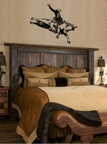 Bull Riding Decal, Rodeo, Rodeo Decal, Bull Riding,  Bull Riding Sticker, Cowboy, Cowboy Decal, Boys Room, Wall Decal  27 X 23 inches