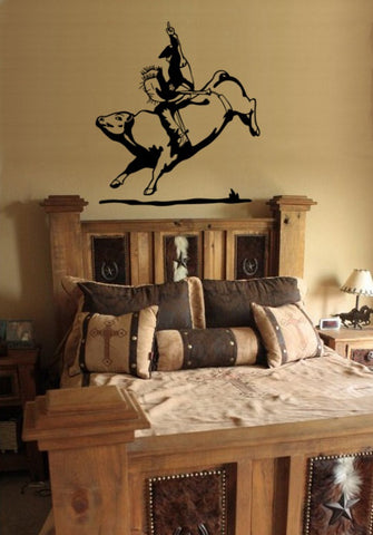 Bull Riding Decal, Rodeo, Rodeo Decal, Bull Riding,  Bull Riding Sticker, Cowboy Decal, Boys Room, Teen Room, Wall Decal  27 X 30 inches