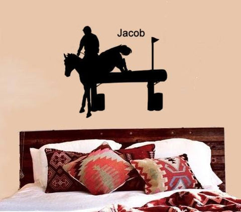 Horse Decal, Personalized Horse, Cross Country, 3 Day Event, Horse Wall Decal, Horse Jumping, Cross Country Jumping, Horse Decor, Teen Room