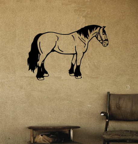Horse , Horse Wall Decal, Draft Horse Decal, Girls room, Teen room, Horse Decal, Western Decor, Horse Decor, Wall Decal, Wall Sticker