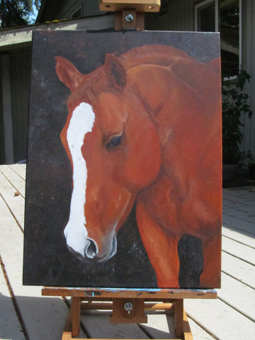 Horse painting, Original Art Work, Horse Art, Equine, Horse Decor, Acrylic Painting, 18 x 24 inches