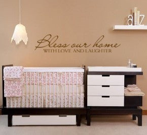 Bless Our Home, quote -- Vinyl wall art decal