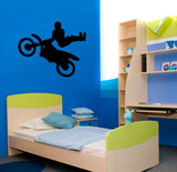 Motorcycle Stunt, catching some air sticker -- 26 X 32 inch -- Vinyl wall decal