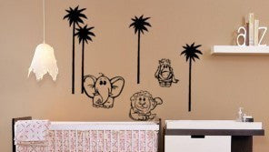 Nursery decal-Nursery wall decor-Baby nursery wall sticker-Animal decal-Tree decal-39 X 24 inches