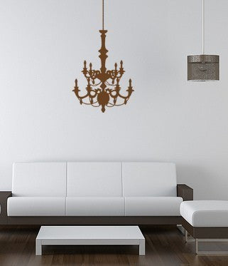 Chandelier Decal-Chandelier sticker-Chandelier wall decal-Wall decor-20 X 31 inches
