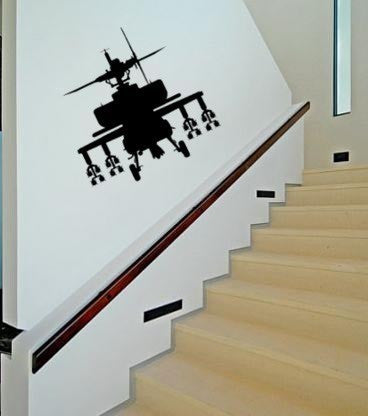 Military decal-Helicopter decal-Military sticker-Helicopter sticker-Gunship decal-28 X 28 inches