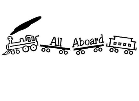 Nursery decal-Baby nursery sticker-Kids room decor-Train decal-Quote decal-7 X 28 inches