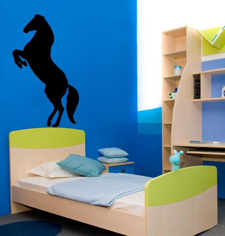 Horse-Rearing horse-Vinyl wall sticker-25 X 43 inch- wall decal