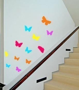 12 Butterflies Flying - Vinyl wall art decal