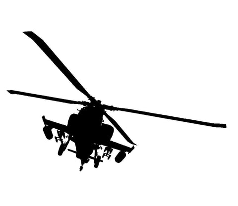 Helicopter Wall Decal, Army Chopper, Military Decal, Child\'s Room ...