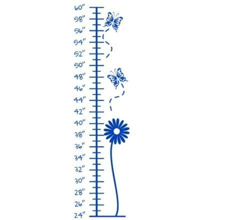 Growth chart decal-Nursery wall decal-Kids room decal-9 X 36 inches