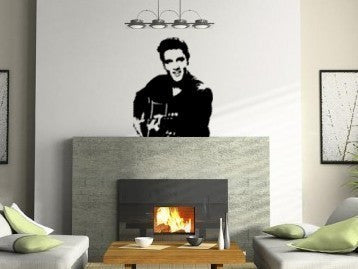 Elvis decal-Music decal-Vinyl wall decor-Room decor-28 X 35 inches