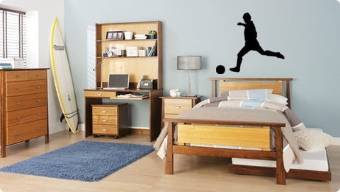 Soccer decal-Soccer player sticker-Sports decal-Wall decal-28 X 30 inches