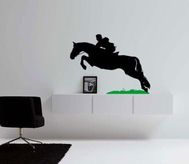 Horse Decal, Cowboy Wall Sticker, Child's Room, Western Decor, Mustang, Jumping Horse, 21 X 28 inch