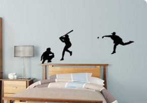 Baseball decal-Baseball sticker-Baseball room decor-Vinyl wall decal-28 X 90 inches