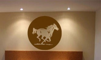 Horse decal-Horse sticker-Horse wall decal-Wall decor-28 inch diameter