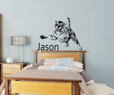Tiger-tiger decal-personalized decal-cat sticker-vinyl wall decal-28 X 38 inches