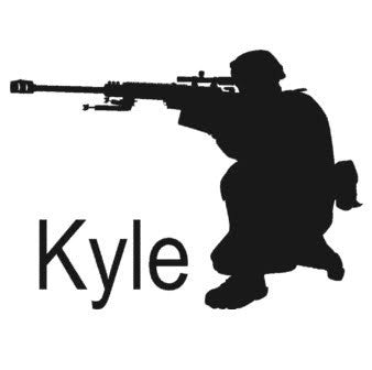Military decal, Soldier sticker, Personalized decal, Vinyl wall decor, 21 X 28 inches