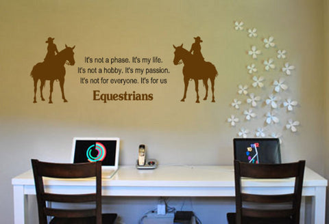 Horse decal-Horse sticker-Quote decal-Quote sticker-Horse wall decal-48 X 17 inches