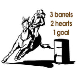 Horse decal-Horse sticker-Barrel racer horse-Horse quote decal-Horse wall decor-22 X 28 inches