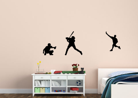 Baseball decal-Baseball sticker-Baseball wall decor-Vinyl wall decal-Big 70 X 22 inches