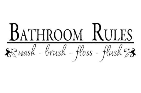 Bathroom decal-Quote decal-Bathroom decor-Quote sticker-Vinyl wall decal-8 X 28 inches,