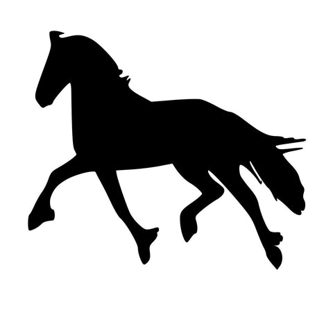 "Auto Decal, Horse Troting Decal, Car Decal, Car Sticker, Laptop Decal, Tablet Decal, 10"" x 9"""