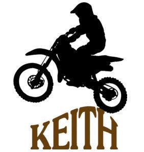 Personalized decal-Motocross decal-Motorcycle decal-28 X 36 inches