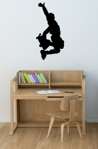 Skateboarder decal-Skateboarder sticker-Kids room wall decor-28 X 14 inches