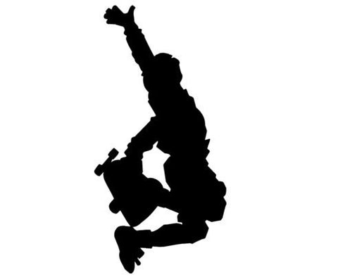 Skateboarder decal-Skateboarder sticker-Sports decal-Sports sticker-28 X 14 inches