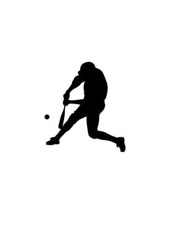 Baseball decal-Sports decal-Baseball sticker-Baseball decor-Baseball Player decal-Vinyl wall decal-8 X 9 inches-Black