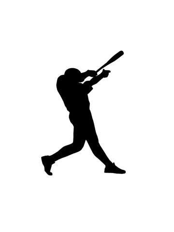 Baseball decal-Sports decal-Baseball sticker-Baseball decor-Baseball Player decal-Vinyl wall decal-7 X 10 inch-Black