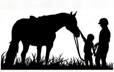 Horse-Horse vinyl wall decal-Horse and Family-Large decal 27 X 51 inches. 211-HS