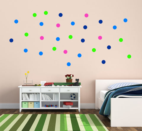 Nursery decal-Nursery sticker-Poka dot decal-Dot sticker-Kids room decor-30 dots-4 inch diameter