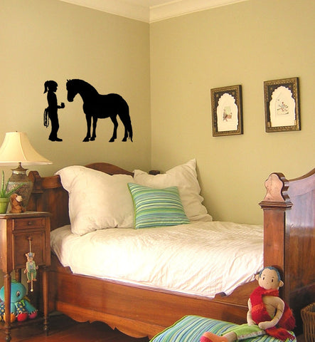 Horse-Best friends wall decal, Horse sticker-Horse decal, 40 inches x 27 inches.  789-HS
