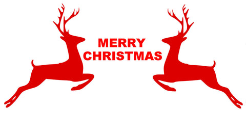Reindeer decal-Chrismas Quote-Reindeer decal-Vinyl wall decal-69 X 31 inches