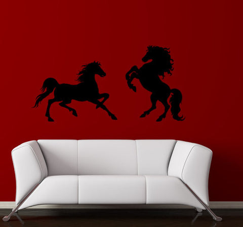 Horse- Large Horse Set wall decal -Horse Sticker -Approx.69 inches x 34 inches.