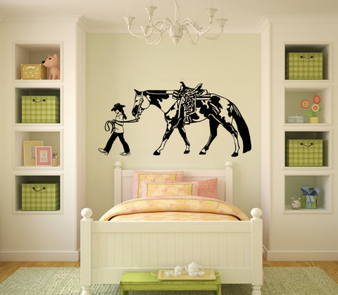 Horse Wall Decal Horse and Rider Sticker Teen Girls Western Wall ...