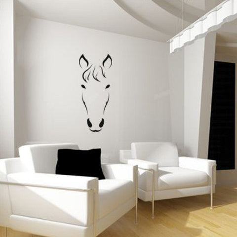 Horse Decal, Girls Room decal, Teen Decor, Dorm Wall Decal, Western Decor, Mustang, 21 X 48 inches