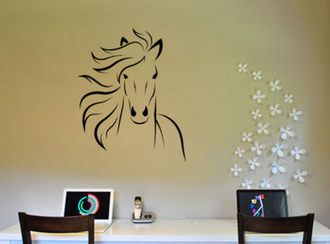 Horse decal mustang sticker arabian horse vinyl wall room decor girls room 28 X 34 inches