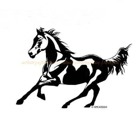 Horse wall decal-Designed form photograph decal- 39 x 27 inches,212-HS .