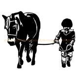 Horse-Horse and Child 5-Horse wall decal-Horse sticker-Approx. 28 x 22 inches,770-HS