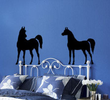 Horse Decal, Arabian Horse, Teen Room, Dorm Room, Child's Room, Pony, Horse Decor 28 X 60 inches