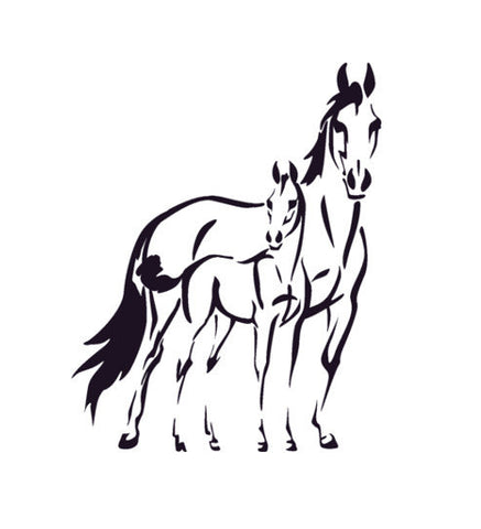 Horse Decal Pony Wall Sticker Teen Decor Western Nursery Wall Decal Dorm Horse Decal 22 X 28 inches